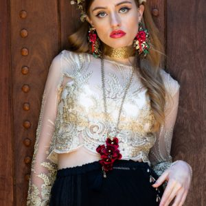 Baylee black lace maxi skirt bohemian Harlow Loves Daisy Handmade in Melbourne